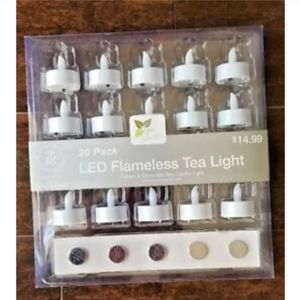 Other - 20 Pack LED Flameless Tea Light Flickers Glows
